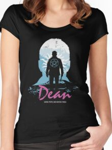 I Hunt, Therefore I Am (Dean - Supernatural & Drive) Women's Fitted Scoop T-Shirt