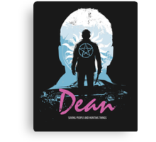 I Hunt, Therefore I Am (Dean - Supernatural & Drive) Canvas Print