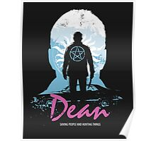 I Hunt, Therefore I Am (Dean - Supernatural & Drive) Poster