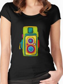 Vintage camera Women's Fitted Scoop T-Shirt