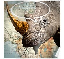 the balls of the Rhino poachers Poster