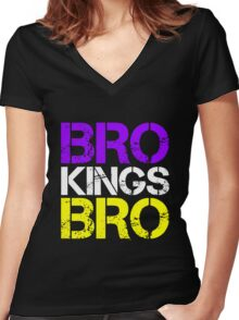 BRO TEAM BRO Women's Fitted V-Neck T-Shirt