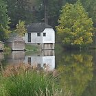 Boat Houses in Fall by Timothy  Ruf