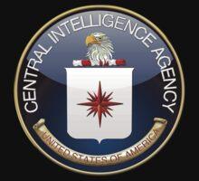 Central Intelligence Agency - CIA Emblem 3D on Blue Velvet Kids Clothes