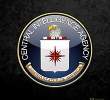 Central Intelligence Agency - CIA Emblem 3D on Black Velvet by Captain7