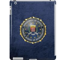 Federal Bureau of Investigation - FBI Emblem 3D on Blue Velvet iPad Case/Skin