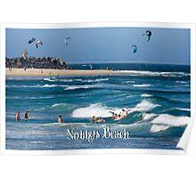Bodysurfers - Nobbys Beach Poster