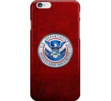 Department of Homeland Security - DHS Emblem 3D on Red Velvet iPhone Case/Skin