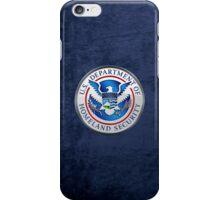 Department of Homeland Security - DHS Emblem 3D on Blue Velvet iPhone Case/Skin