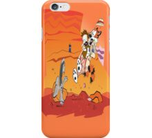 Calvin and Hobbes: Doctor Who From Another Planet! iPhone Case/Skin