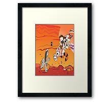 Calvin and Hobbes: Doctor Who From Another Planet! Framed Print