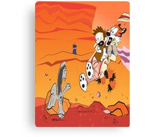 Calvin and Hobbes: Doctor Who From Another Planet! Canvas Print
