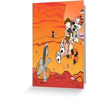 Calvin and Hobbes: Doctor Who From Another Planet! Greeting Card