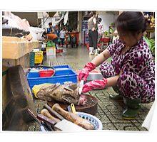 preparing fish Poster