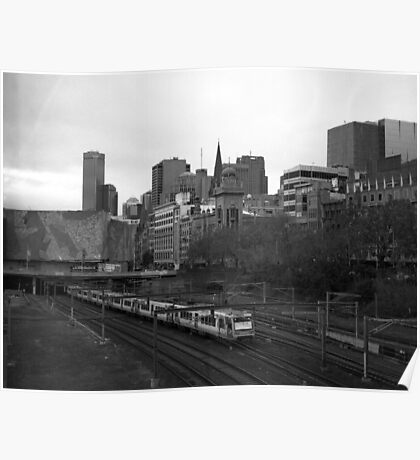 Train by Fed Square Poster