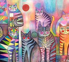 Kitties galore by Karin Zeller