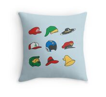 Game Hats Throw Pillow