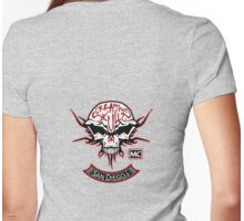 The Screaming Skulls: Get Patched! Womens Fitted T-Shirt