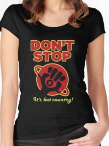 Don't Stop Women's Fitted Scoop T-Shirt
