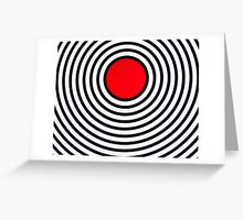 RED CIRCLE Greeting Card
