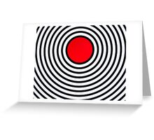 RED CIRCLE Greeting Card