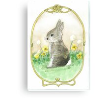 Clockwork Bunny Canvas Print