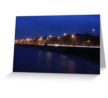 Nightime Promenade Greeting Card