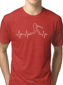 My Heart Beats for Baseball Tri-blend T-Shirt