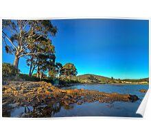 Shelley Beach waterfront HDR - Orford, Tasmania, Australia Poster