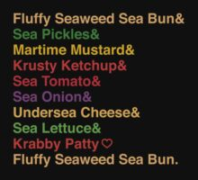 Krabby Patty Recipes by oneskillwonder