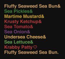 Krabby Patty Recipes by oneskillwonder