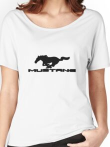 Ford Mustang Logo Tee Women's Relaxed Fit T-Shirt