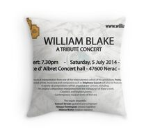 """For all my friends  . Concert """" the regale Ensemble """" William Blake  Throw Pillow"""