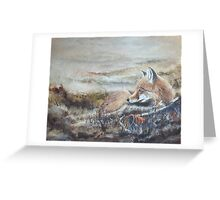Morning of the Hunt Greeting Card