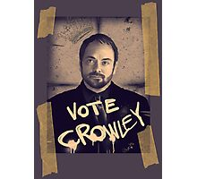 VOTE CROWLEY Photographic Print