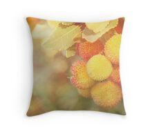 Irish Strawberries Throw Pillow