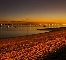 Thorpe Bay at night by Andrew O'Hara