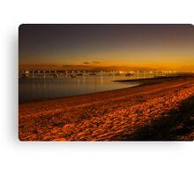 Thorpe Bay at night Canvas Print