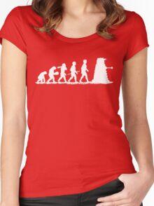 Evolution Dalek! Women's Fitted Scoop T-Shirt