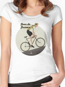 Tour De France Women's Fitted Scoop T-Shirt