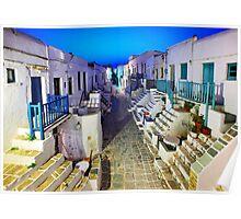 The Grand Rua of Folegandros Poster