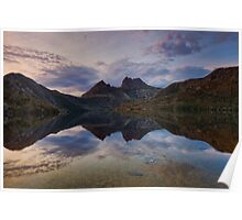 Sunrise Reflections at Cradle Mt Poster