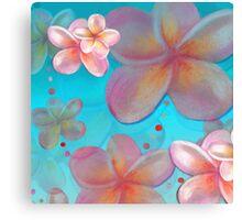 Frangipani Summer Canvas Print