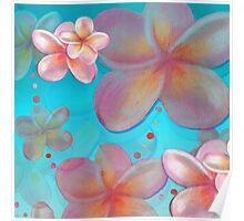 Frangipani Summer Poster