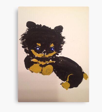 Little furry cute puppy Canvas Print