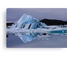 Glacier lagoon Canvas Print