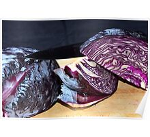 Cooking red cabbage Poster
