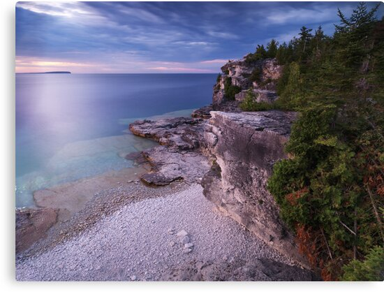 Georgian Bay Cliffs at Sunset art photo print by ArtNudePhotos