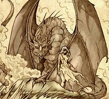 Game of Thrones - Daenarys & Drogon by SchifferJDesign