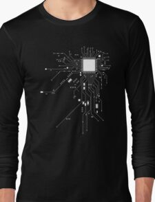 CPU Computer Heart White Long Sleeve T-Shirt